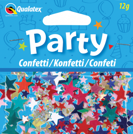 Multi-colour Stars Qualatex Confetti 12g